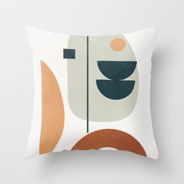 Minimal Shapes No.37 Throw Pillow