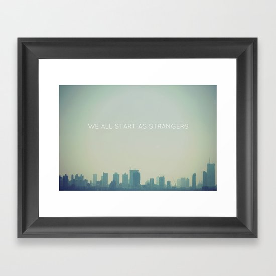 We All Framed Art Print