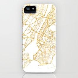 NEW YORK CITY NEW YORK CITY STREET MAP ART iPhone Case