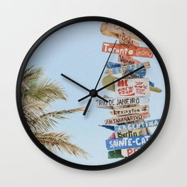 summer wanderlust Wall Clock