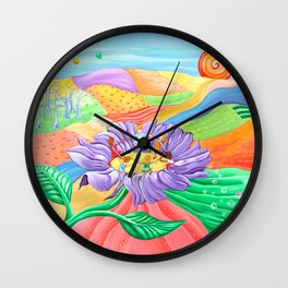 Seeds of Life - Children Dancing on a Flower Wall Clock