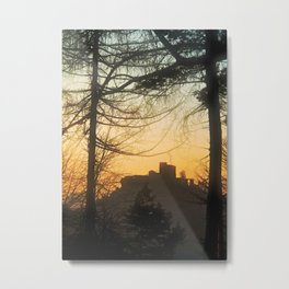 Trifels castle at evening Metal Print
