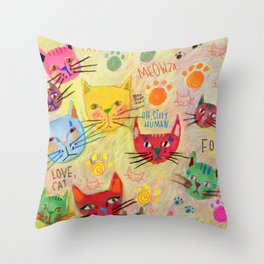 Meowza! Throw Pillow
