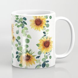 Eucalyptus and Sunflowers Garland  Coffee Mug