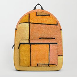 Protoglifo 04 'yellow hugging pink' Backpack