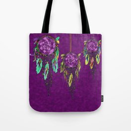 Boho Dreamcatchers , Purple Tote Bag