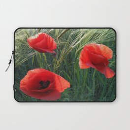 Ballad Of The Three Red Poppies Laptop Sleeve