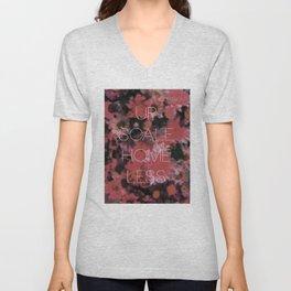 UO$ Upscale Homeless (Floral Print) Unisex V-Neck