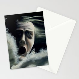Man overboard Stationery Cards
