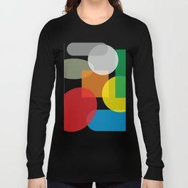 Tech geometric colorful Background #society6 #decor #buyart #artprint Long Sleeve T-shirt