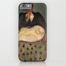 Edvard Munch - Inheritance - Digital Remastered Edition iPhone Case