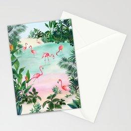 FLAMINGO SCENE Stationery Cards