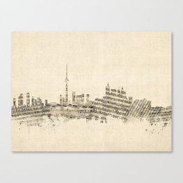 Toronto Canada Skyline Sheet Music Cityscape Canvas Print