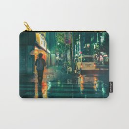 Japanese walking in the rain Carry-All Pouch