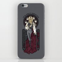 hallion iPhone & iPod Skins featuring It's not long at all.... by Karen Hallion Illustrations