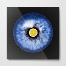 eye with lemon Metal Print