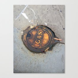 Sidewalk Fuel Canvas Print