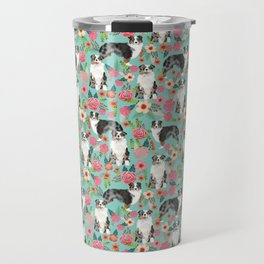 Australian Shepherd owners dog breed cute herding dogs aussie dogs animal pet portrait dog art Travel Mug