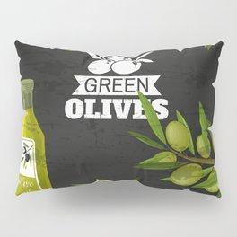 Olives retro poster #3 Pillow Sham