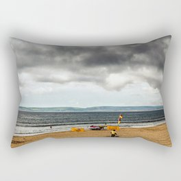 Portsmouth beach Rectangular Pillow