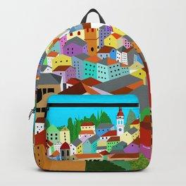 Corfu Town Greece - Greek Village Backpack