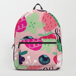 Berry Patch Fruit and Floral Pattern Backpack