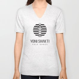 YONI SHAKTI streaked logo Unisex V-Neck