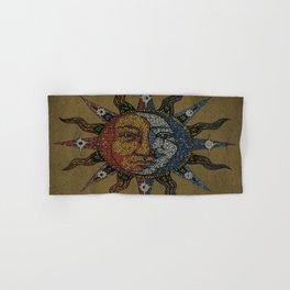 Vintage Celestial Mosaic Sun & Moon Hand & Bath Towel