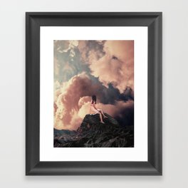 You came from the Clouds Framed Art Print