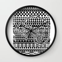 ninja Wall Clocks featuring ninja  by jun salazar