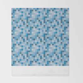 Ice Pixels Throw Blanket