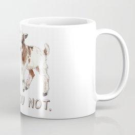 I Kid You Not: Baby Goat Watercolor Illustration Coffee Mug