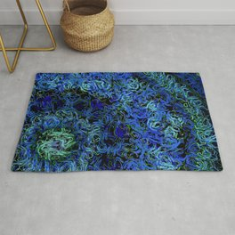 Supernova in blue and geen Rug