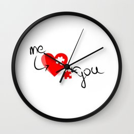 Me and You Missing Piece to my Heart Design Wall Clock