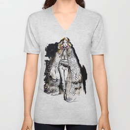 Runway show illustration Unisex V-Neck