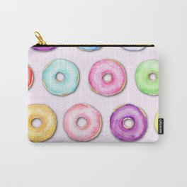 Watercolor Pastel Color Donut Pattern Carry-All Pouch
