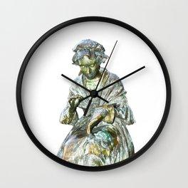The Leics Seamstress Statue Wall Clock