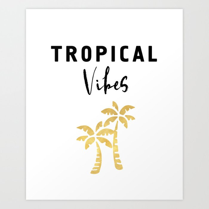 Tropical vibes palm trees and beaches art print
