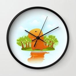 Baby T-Rexy Wall Clock