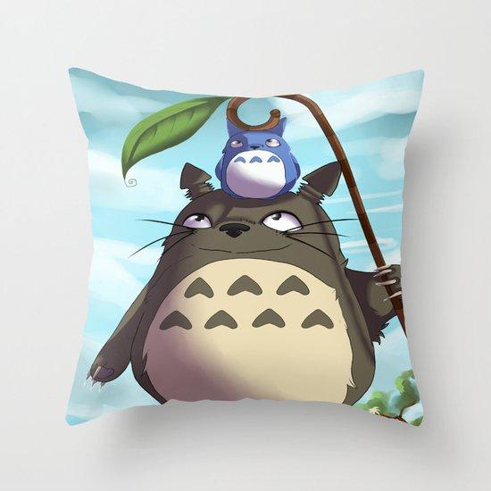 Totoro Throw Pillow