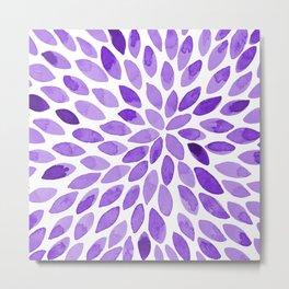 Watercolor brush strokes - ultra violet Metal Print