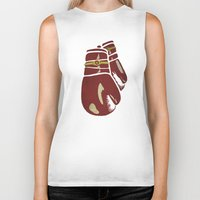 boxing Biker Tanks featuring Power Boxing by Lucas Scialabba :: Palitosci