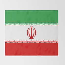 flag of iran- Persia, Iranian,persian, Tehran,Mashhad,Zoroaster. Throw Blanket