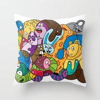safari Throw Pillows featuring Safari by Chris Piascik