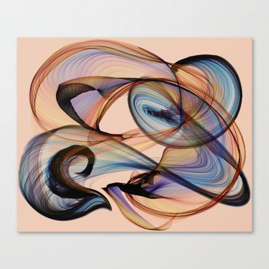 Bird Flame Peach Canvas Print