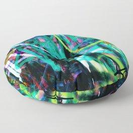 graffiti blue Floor Pillow