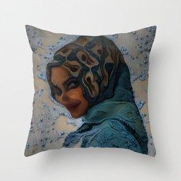 Hijabi Deepdream Throw Pillow