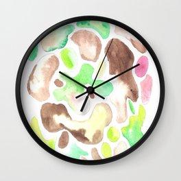 170623 Colour Shapes Watercolor 1 Wall Clock