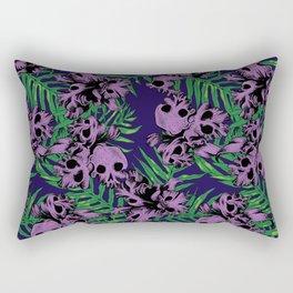 Orchid Skulls Rectangular Pillow