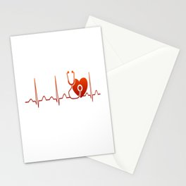 DOCTOR HEARTBEAT Stationery Cards